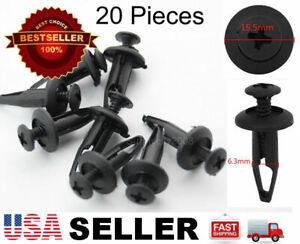 20 Plastic Rivet Fastener Clip Retainer Screw For Chrysler 6502871 Ford N803946S