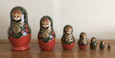 Lovely Vintage 7 Piece Matryoshka Russian Nesting Dolls Signed Poccur 1990's