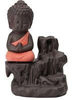 Handmade & Polyresin Child Buddha Incense Holder Backflow Smoke Fountain USA