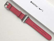 Apple Watch Leather Classic Buckle Strap 38/40mm PINK FUCHSIA **RARE**
