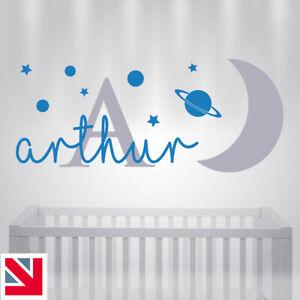 PERSONALISED Custom NAME Wall Sticker Baby Kids Nursery Boys Bedroom Decal