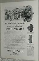 1929 Bell & Howell advertisement, Filmo Movie Camera, model 70, 75