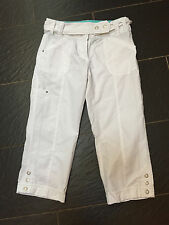 NEXT WHITE 3/4 COMBAT TROUSERS SIZE 12