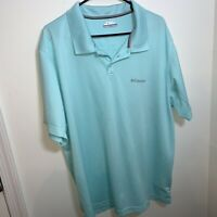 Columbia PFG Short Sleeve Omni-Shade Polo Blue Mens size 2xl Big Man