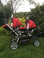 Jane Power Twin dual traveller- double Pram/Pushchair Travel System
