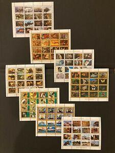 Umm al Qiwain - MNH - Eight (8) Souvenir Sheets Set - CTO