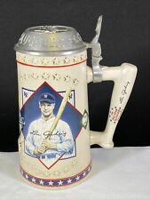 Longton Crown Lou Gehrig Iron Horse New York Yankees Baseball Lidded Beer Stein