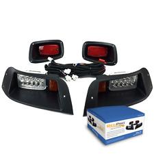 EZGO TXT Golf Cart LED Headlights & LED Tail Light Kit 1996-2013 Gas or Electric