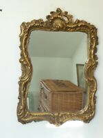 Vintage Antique  Rococo Style Gilt Mirror 54cm x 37cm.