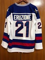 NEw 1980 Miracle On Ice Team USA Mike Eruzione #21 Hockey Jersey All stitched