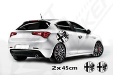 Fits Alfa Romeo Side Racing Stripes Decal Graphics /Tuning Car Stickers