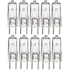 [10 Pack] 50 Watt 120 Volt Halogen Light Bulbs G8 Base Bi-Pin 50W T4 JCD Lamp