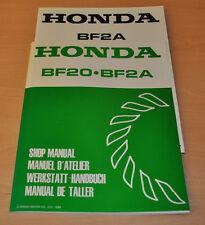 HONDA BF20 Aussenbordmotoren Boarder Stand 1988 Werkstatthandbuch + Nachtrag!