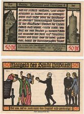 Germany 50 Pfennig 1921 Notgeld Possneck Pößneck UNC Uncirculated Banknote
