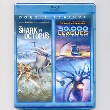 2 sci-fi movies Mega Shark vs Giant Octopus 30,000 Leagues Under Sea new Blu-ray