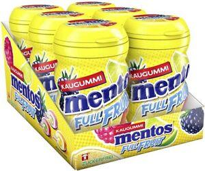 Mentos Full Fruit - Frucht Kaugummi ohne Zucker - 6 Dosen