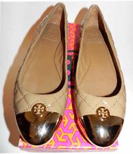 $275 Tory Burch Kaitlin Skimmer Ballerina Flat Ballet Quilted Shoe Cap Toe 9-39