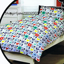 Mickey Mouse - Disney - Small squares - Single Bed Quilt Doona Duvet Cover set