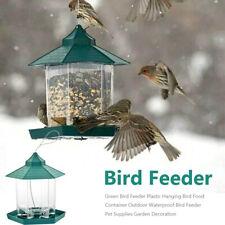 Plastic Waterproof Hanging Wild Bird Feeder Feeding Garden Yard Outdoor Decors