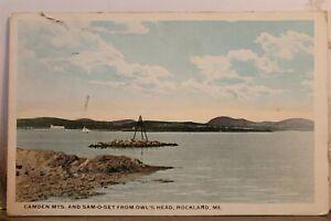 Maine ME Rockland Owl's Head Sam O Set Camden Mountains Postcard Old Vintage PC