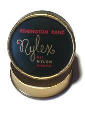 Vintage Remington Rand Nylex Typewriter Ribbon Cardboard Container Black & Gold