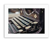 Vecchia MACCHINA DA SCRIVERE Tastiera vintage con stampe su tela art