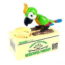 Money Saving Box Piggy Bank Cute Automated Stealing Coins Parrot Kids Gift New