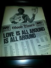 War Eric Burdon Love Is All Around Rare Original Promo Poster Ad Framed!