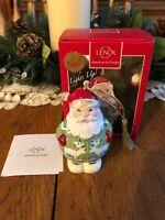 LENOX Christmas Sweater Light Up Santa Claus Kris Kringle Multi-Colored Ornament