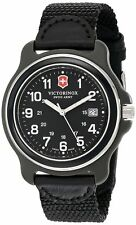 NEW Victorinox Swiss Army Men's 249087 Original XL Swiss Quartz Black Watch
