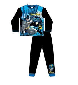 Boys Batman Pyjamas 4-10 Years Size Long Sleeve Trouser Character DC Comic Blue