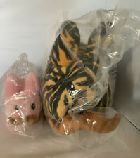 "KIDROBOT Frank KOZIK TIGER PLUSH LABBIT 12"" And Pink 7"" NEW Plush Designer Toy"