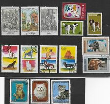 *DOG & CAT STAMPS* 25 WORLDWIDE ISSUED IN THE 1970'S UNH-OG EXCELLENT CONDITION