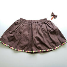 Gymboree NWT Girls Toddler Brown Skirt w/Diaper Cover & Hair Clip Size 2T