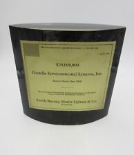 Gundle Environmental Systems, Inc Lucite Tombstone Bond Offering 1990 $25M