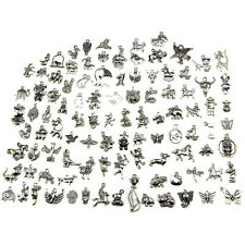 Retro Silver 100pcs Bulk Lots Mix Animal Charm Pendants Jewelry DIY Hot Sale MD