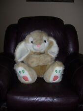 "Large Jumbo Bunny Rabbit Plush Doll Long Floppy Ears Cuddly Soft 24"" Embroidered"