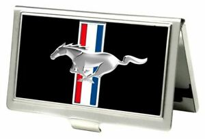Business Card Holder - SMALL - Mustang Tri-Bar Logo MORE Sizes & Styles In Store