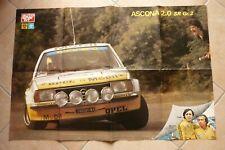 Maxi Poster Rallye OPEL ASCONA 2.0 SR gr.2 MAURIZIO VERINI RUDY ROBERTO DALPOZZO