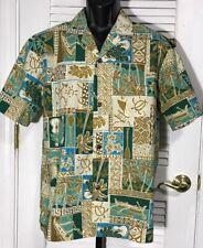 Royal Creations Hawaiian Shirt Men's L Floral Ukulele Outrigger Made in USA MINT
