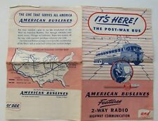 American Buslines Post War Bus Brochure w/ 2- Way Radio