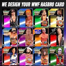 DESIGN YOUR OWN WWF HASBRO CARD + BOX WRESTLING WWE FIGURES MATTEL RETRO LJN KID