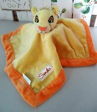 Disney Lion King Baby Simba Golden Orange Plush Velour Security Blanket *HTF