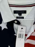 Tommy Hilfiger Mens American Flag Polo Medium NWT