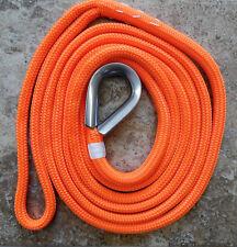 "5/8"" x 15 ft. Blaze Orange Double Braid Dac/Polyester Mooring Pendant 15"" eye"