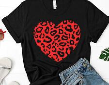 NEW! Love Valentines Day Big Leopard Heart Cute T-shirts Sweaters S-3XL