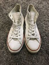 Mens Converse All Star Chuck Taylor White Leather Hi Tops Size UK 10 EU 44