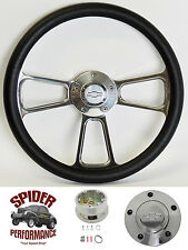 "1967-1968 Caprice Impala Bel Air steering wheel 14"" BOWTIE POLISHED BILLET"