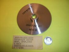 Spur gear for submarine accoustic sonar system. AN/BQQ-5 & 6 By Raytheon