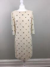 Somerset By Alice Temperley Vintage Cream Embellished Shift Dress UK 8